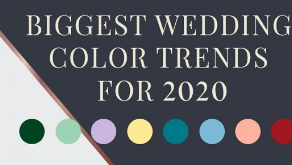 BIGGEST WEDDING COLOR TRENDS FOR 2020