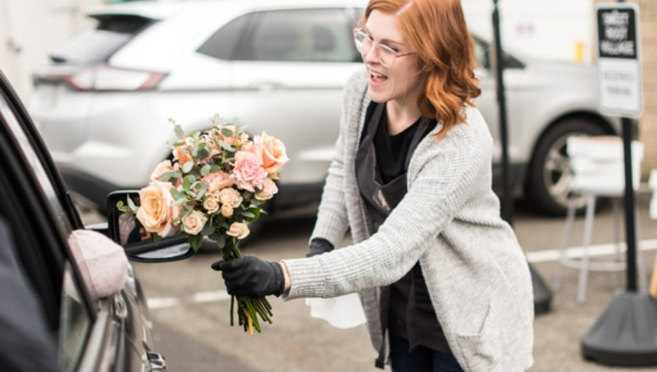Flower Bombings & Bouquet Drive-Thrus: Florists Are Doing Good with Blooms from Canceled Events